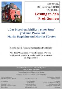 Prosa trifft Lyrik - Marita Bagdahn trifft Marlies Förster