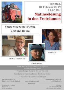 Plakat Marina Siems-Dahle, Anne Haas, Günter Vollmer