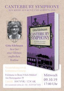 Plakat Gitta Edelmann - Canterbury Symphony