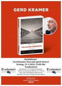 Plakat Gerd Kramer - Tod an der Seebrücke