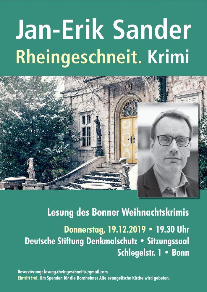 Plakat Jan-Erik Sander - Rheingeschneit