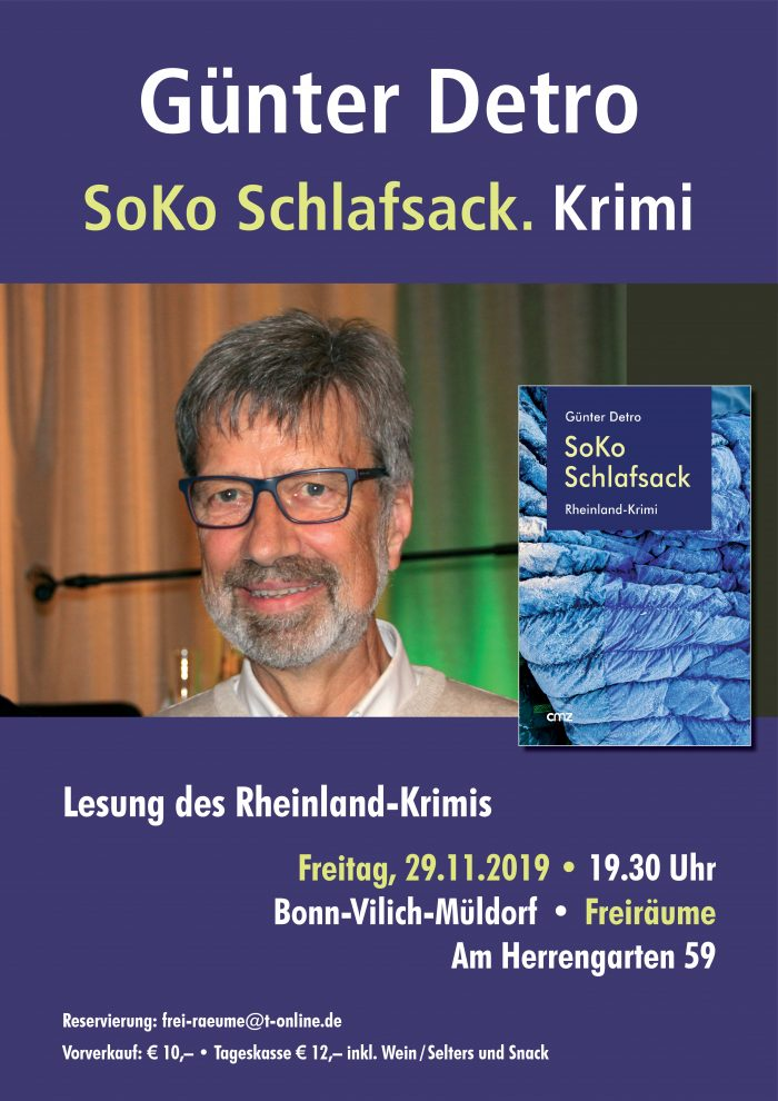 Plakat Günter Detro - SoKo Schlafsack