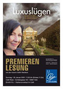 Plakat Edith Niedieck - Luxuslügen