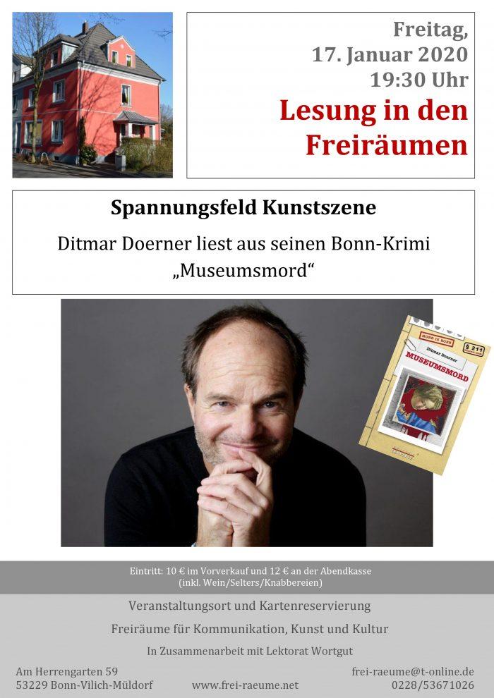 Plakat Ditmar Doerner - Museumamord