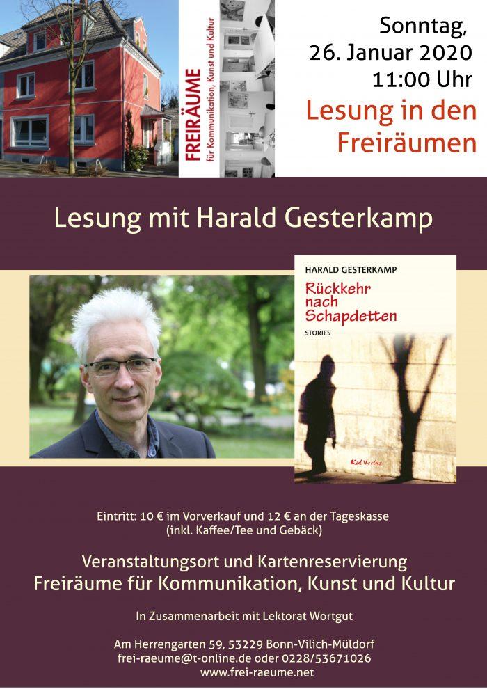 Plakat Harald Gesterkamp - Rückkehr nach Schapdetten