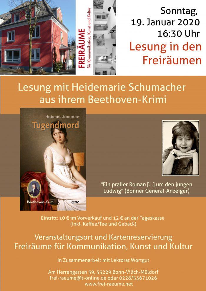 Plakat Heidemarie Schumacher - Tugendmord